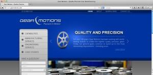 Gear Motions website